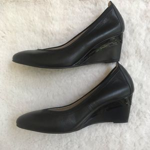 Ukies pumps, wedge heel, black